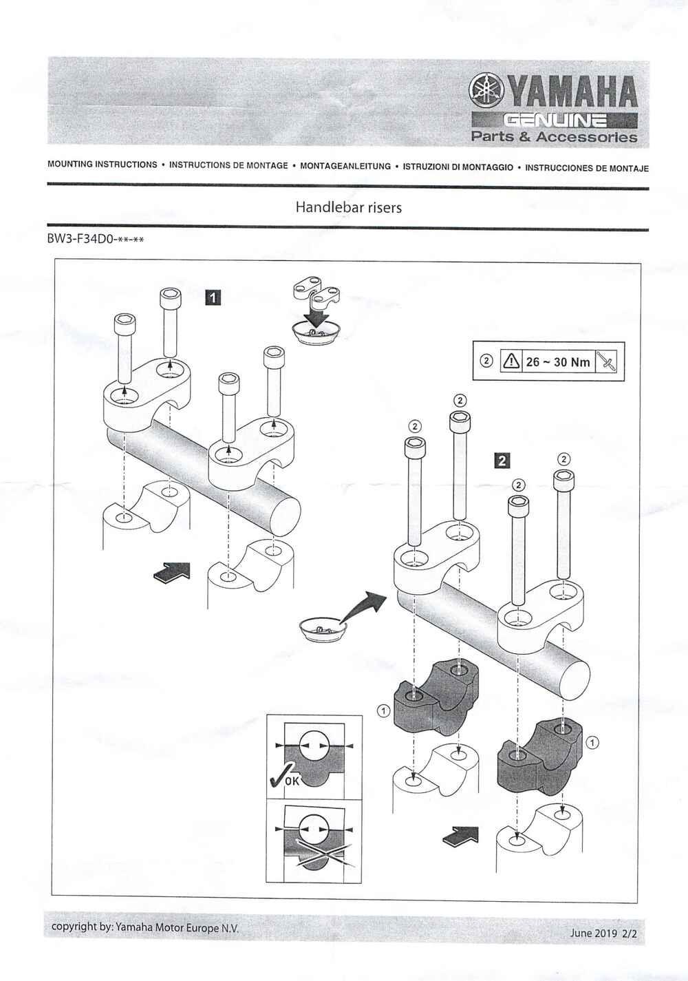 Montageanleitung Lenkererhöhung Tenere 700