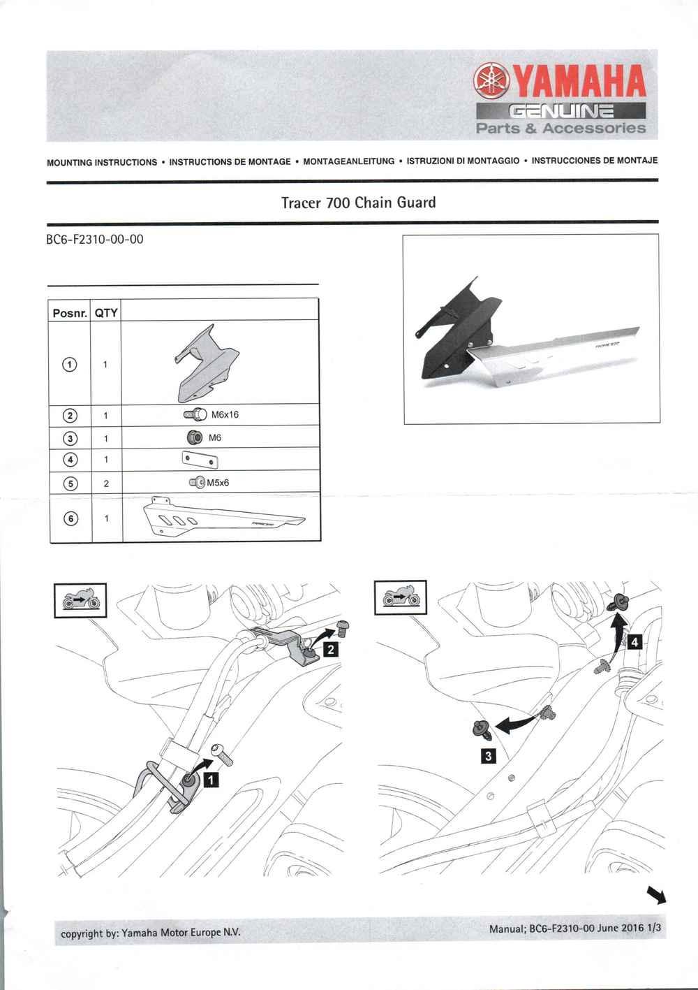Montageanleitung Kettenschutz Tracer 7