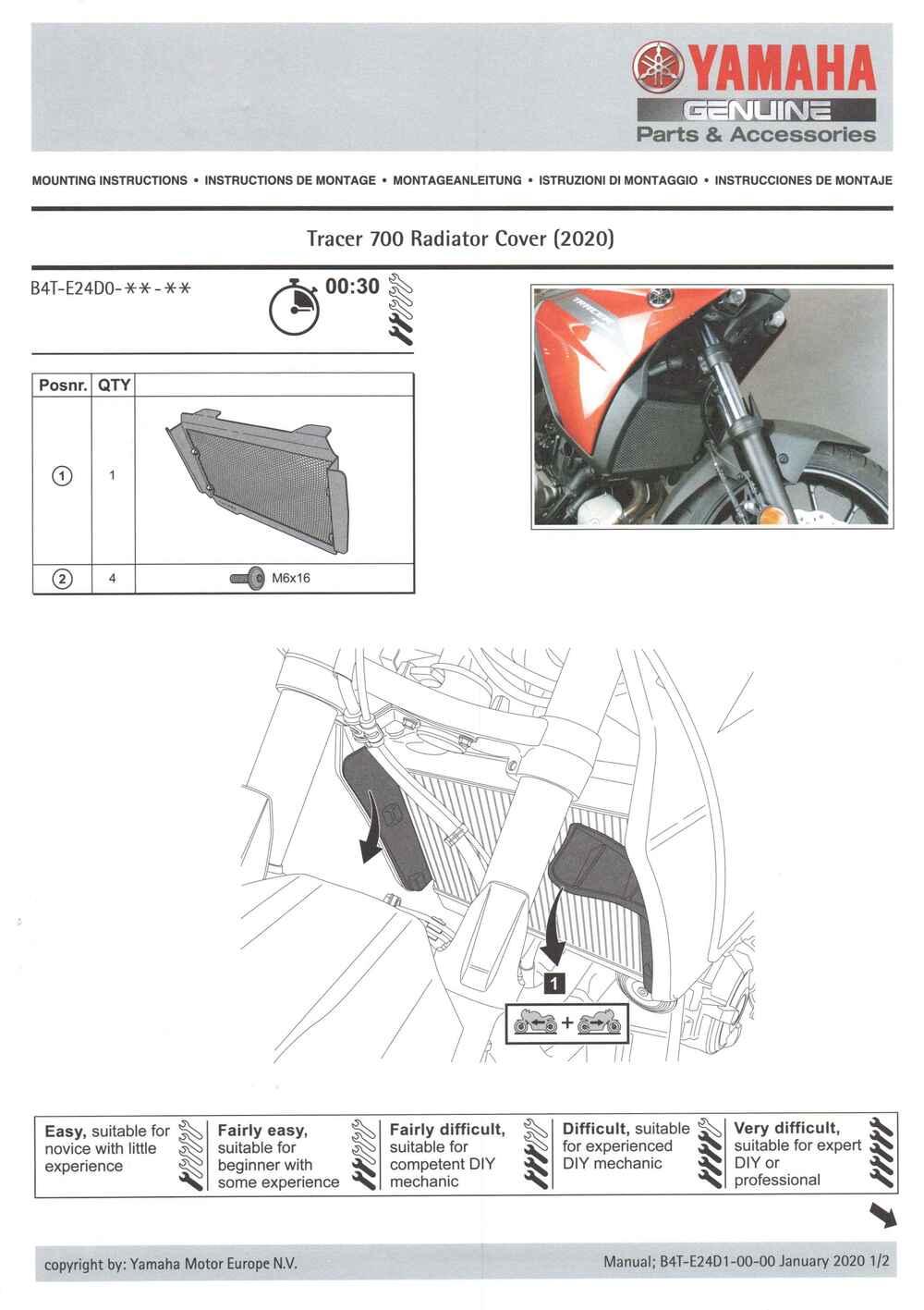 Montageanleitung Kühlerschutz Tracer 7