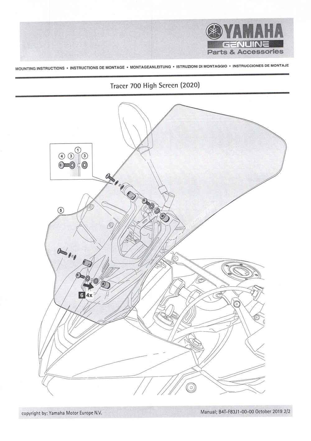 Windschild groß klarTracer 7
