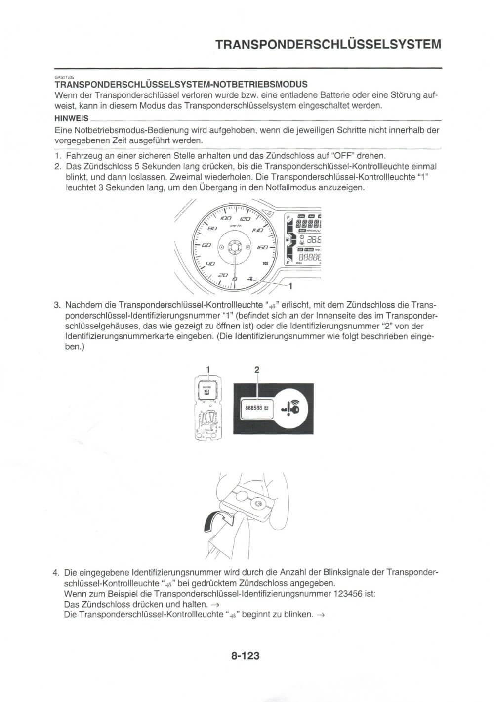 Montageanleitung XMAX Transponderschlüssel