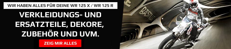 Yamaha WR 125 X / R Verkleidungsteile und weiteres Zubehör