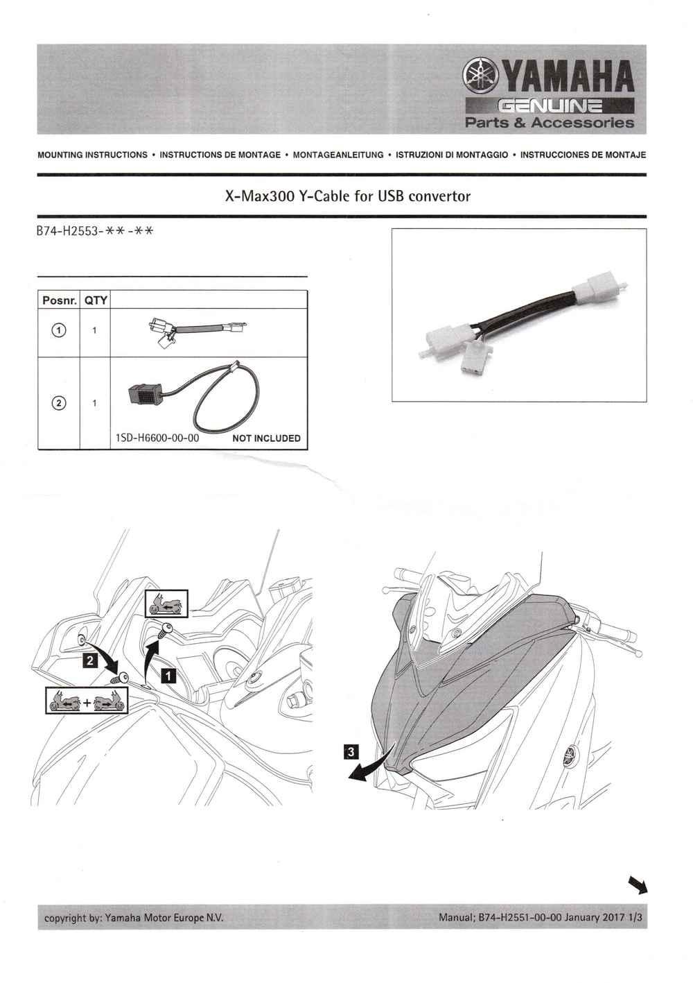 Montageanleitung Y-Kabel